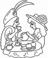 Tea Coloring Pages Printable Birthday Strawberry Clipart Drawing Teaparty Sip Puzzle Crafts Older sketch template