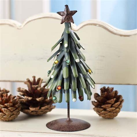 rustic metal christmas tree table decor christmas and