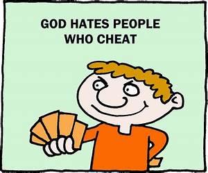 Image download: God Hates Cheating | Christart.com