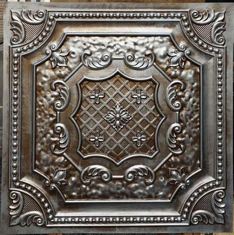 Pl04 Faux Antique Tin Copper Metallic Ceiling Tiles