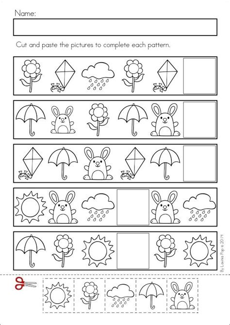 pattern worksheet for crafts and worksheets for