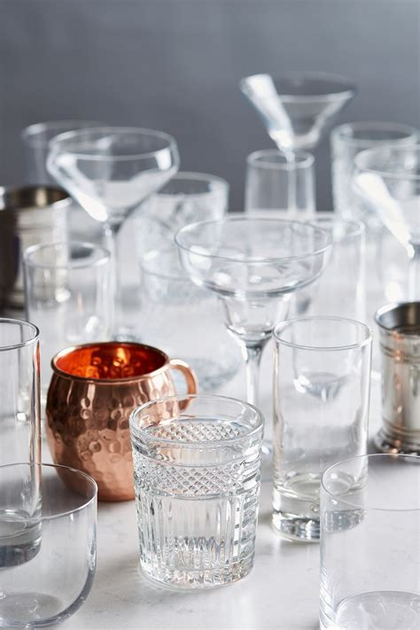 Types Of Barware by The Types Of Glassware Every Bar Needs