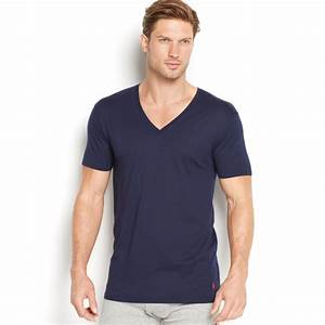 Polo V : polo ralph lauren men 39 s supreme comfort v neck t shirt 2 pack in blue for men cruise navy lyst ~ Gottalentnigeria.com Avis de Voitures