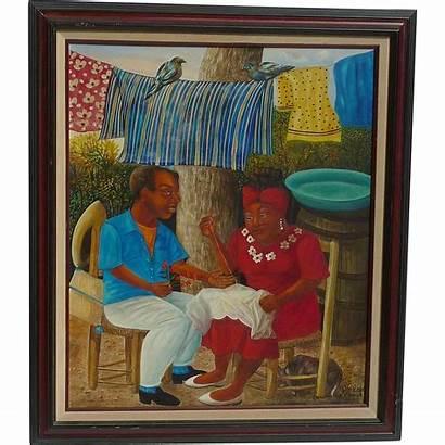 Haitian Louis Contemporary Pierre 1954 Riche Artist