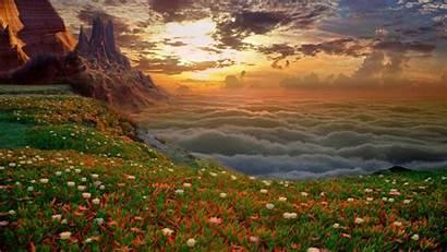 Landscape Morning Misty Mountains Wallpapers Nature Desktop