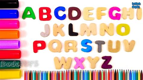 colors a to z painting alphabets and coloring letters for learning