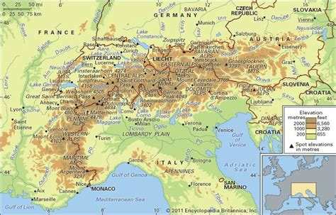 Rhythm And Alps Travel Map Directions And Location Alps Mountains Europe Britannica Com