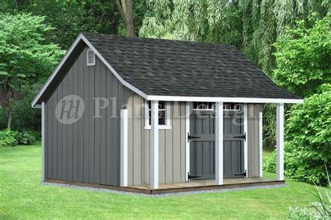Garden Shed Plans 8x12 by 14 X 12 Backyard Storage Shed With Porch Plans P81412
