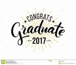Congratulations Graduate 2017 Stock Vector - Illustration ...