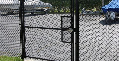 54 Chain Link Gate, Industrial Chain Link Swing Gates