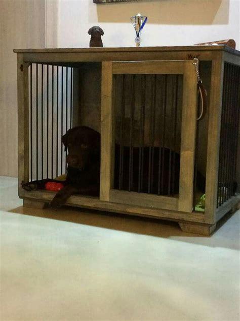 wooden dog crate ideas  pinterest wooden