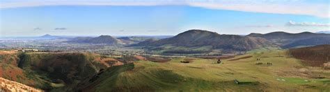 Shropshire Hills Panorama from the Long Mynd, Church ...