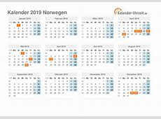 Feiertage 2019 Norwegen Kalender & Übersicht