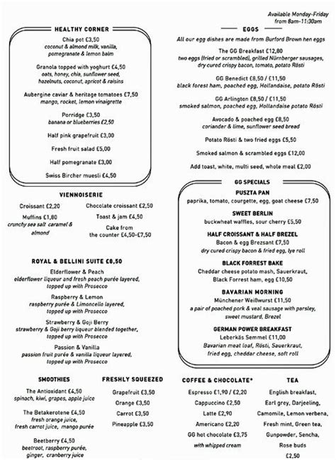 german cuisine menu grand cafe the german gymnasium menu zomato uk
