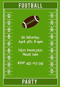 Sport Party Invitations Football Party Party Invitation Template Free In 2020
