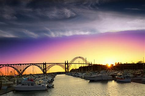 Sunset Newport Oregon Coast Give