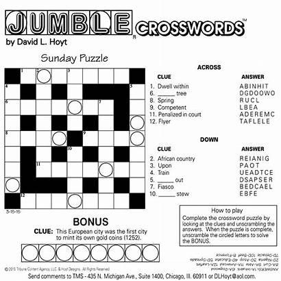 Jumble Printable Crosswords Sunday Tribune Sample Square