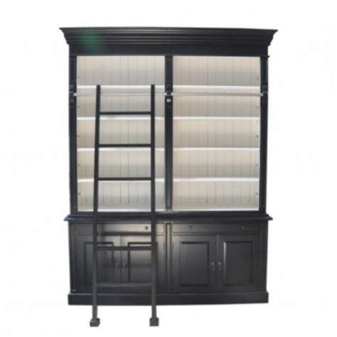 White And Black Bookcase by European Design Provincial Two Bay Bookcase With
