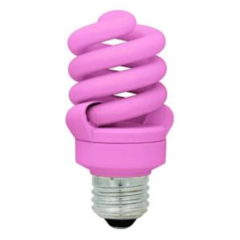 tcp 14 watt 60w pink cfl light bulb 2 pack
