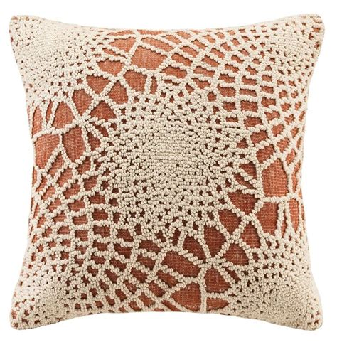 crochet throw pillow crochet pattern orange throw pillow products crochet