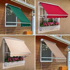 retractable window awnings ebay