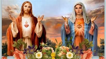 Jesus Mary Mother Wallpapers Matha Christian Catholic