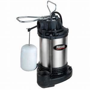 Ridgid Ultra Quiet Stainless Steel Sump Pump-1000rs