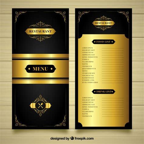 luxury golden menu template vector