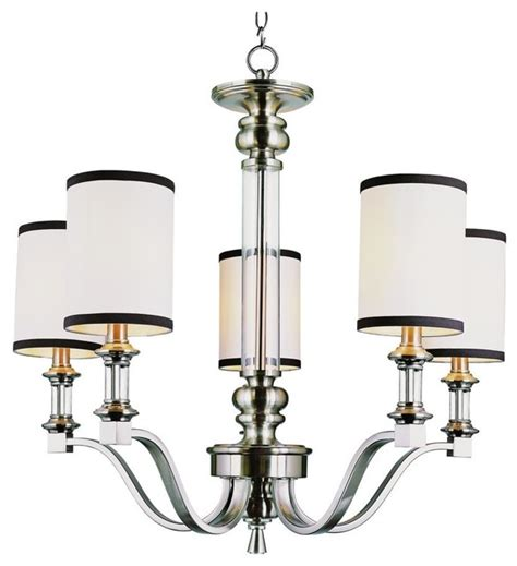 five light brushed nickel up chandelier contemporary