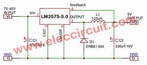 Lm2575 Circuit Simple Switcher 1a Step Down Voltage Regulator