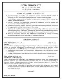 wealth management cover letter resume asset management resume exle