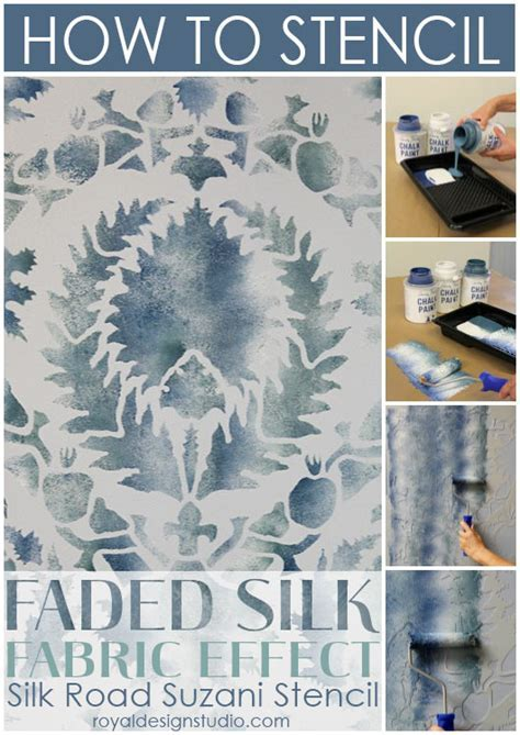 Stencil How to: Faded Silk Suzani Fabric Finish   Paint