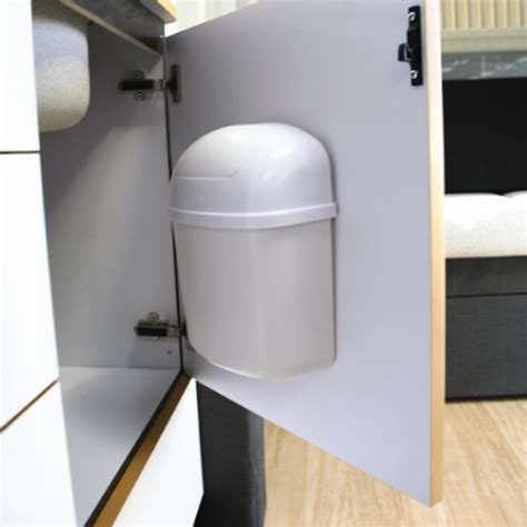 inside cabinet trash can cabinet mount trash can in rv accessories