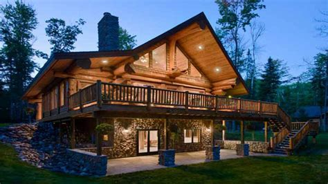Walkout Basement House Plans Log Homes with Walkout