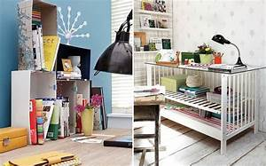 13 DIY home office organization ideas - How to declutter