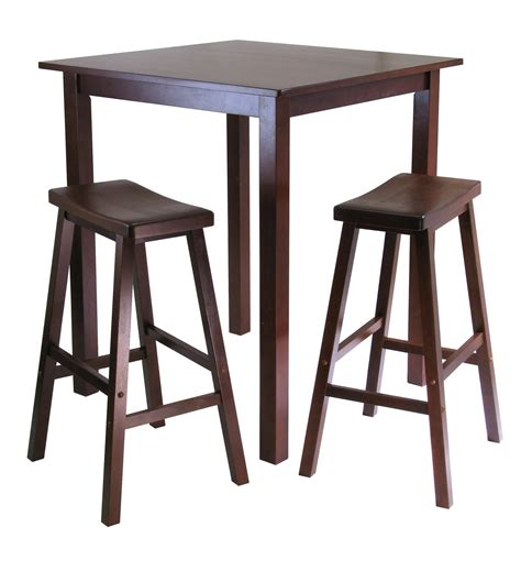 pub table and two chairs winsome parkland 3pc square high pub table set with 2