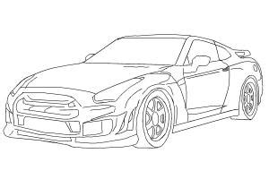 nissan skyline drawing step by step how to draw a car nissan skyline drawingnow
