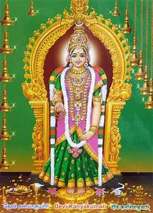 An Fitting Size Chart Devi Kanyakumari Laminated Poster