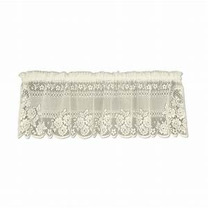 Heritage Lace Victorian Rose 16 In  L Polyester Valance In