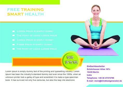 Free Yoga Flyer Template Costumepartyrun
