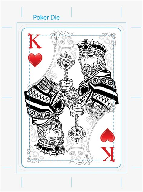 queen  hearts playing card tattoo stencil photo king