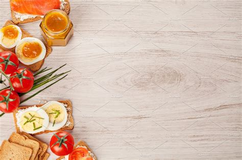 food backgrounds tasty canapes food border background food images