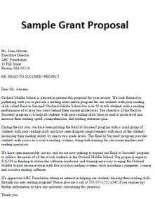 Business Proposal Letter Sample Grant Proposal