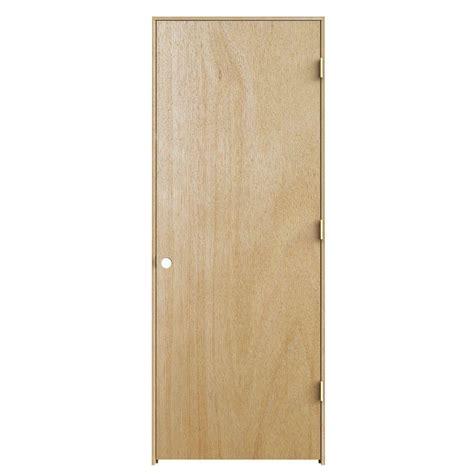 home depot wood doors interior jeld wen 24 in x 80 in unfinished left hand flush