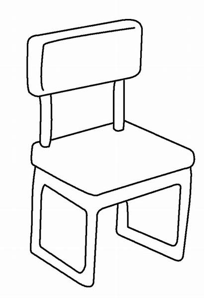 Coloring Chair Pages Template Sketch Household Templates