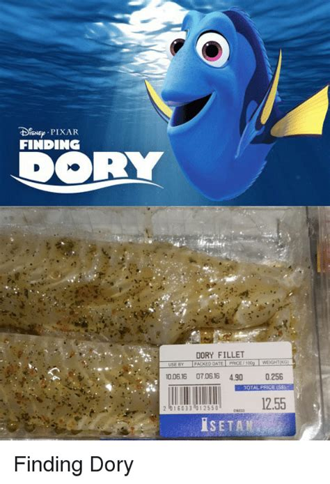 Finding Dory Memes - disneo pixar finding dory fillet tseby packeddate price 100g weight kg i 100616 070616 490 0256