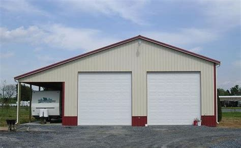 Style X Shop by 40 X 60 Pole Barn 40 W X 60 L X 16 H With 12 Overhang