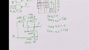 Cmos Nand Gate  Digital Operation  W  L Ratio