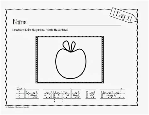 images  sentence tracing worksheets kindergarten