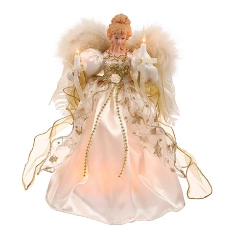 Christmas Tree Toppers Angels by 12 Inch White Amp Gold Angel Christmas Tree Topper Clear